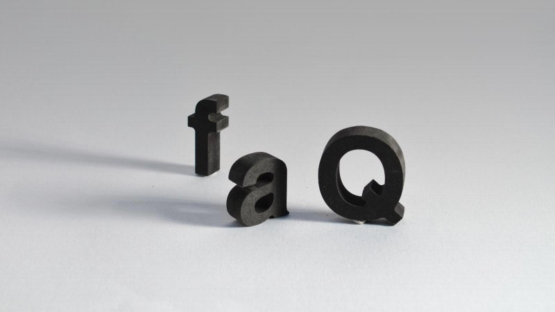 MDF lettering like these 3D letters are made of dense black MDF which creates and edgy look, despite their lower cost.