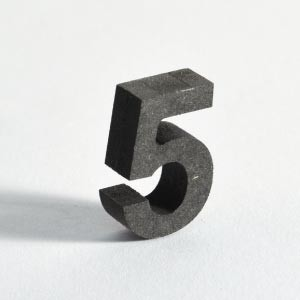 Black MDF 3D letters are durable, strong, dense and extremely economical.