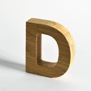 3D-Schriftzüge können aus allen Buchstaben des Alphabets gemacht werden. MDF ist ein Verbundmaterial aus Holzfasern.