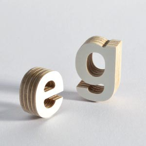 A white melamine coating on 3D letters creates a clean, scratch-resistant surface which is also waterproof.