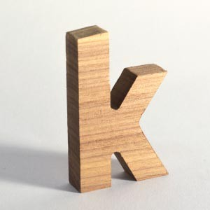 Wooden letters can be CNC routed out of hardwoods only with great difficulty, but 3D effect makes it worth it.