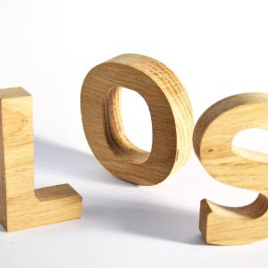 Rare hardwoods allows these 3d letters to really stand out. Hardwood is durable, strong and beautiful, but hard to cut.
