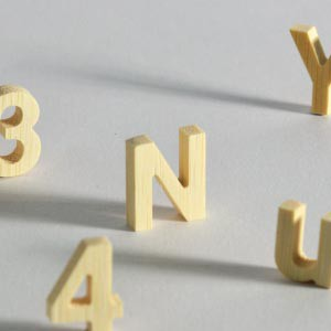 3D lettering can be made out of all the letters of the alphabet. Bamboo is not a wood, but is a reed generally from Asia